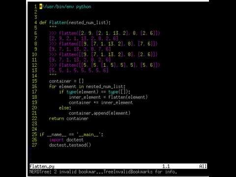Learn Recursive Function in Python #2 (flatten py)