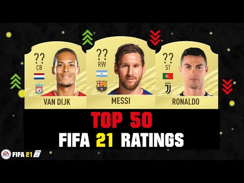 FIFA 21 | TOP 50 BEST PLAYER RATINGS 😱🔥| FT. MESSI, RONALDO, VAN DIJK... Etc