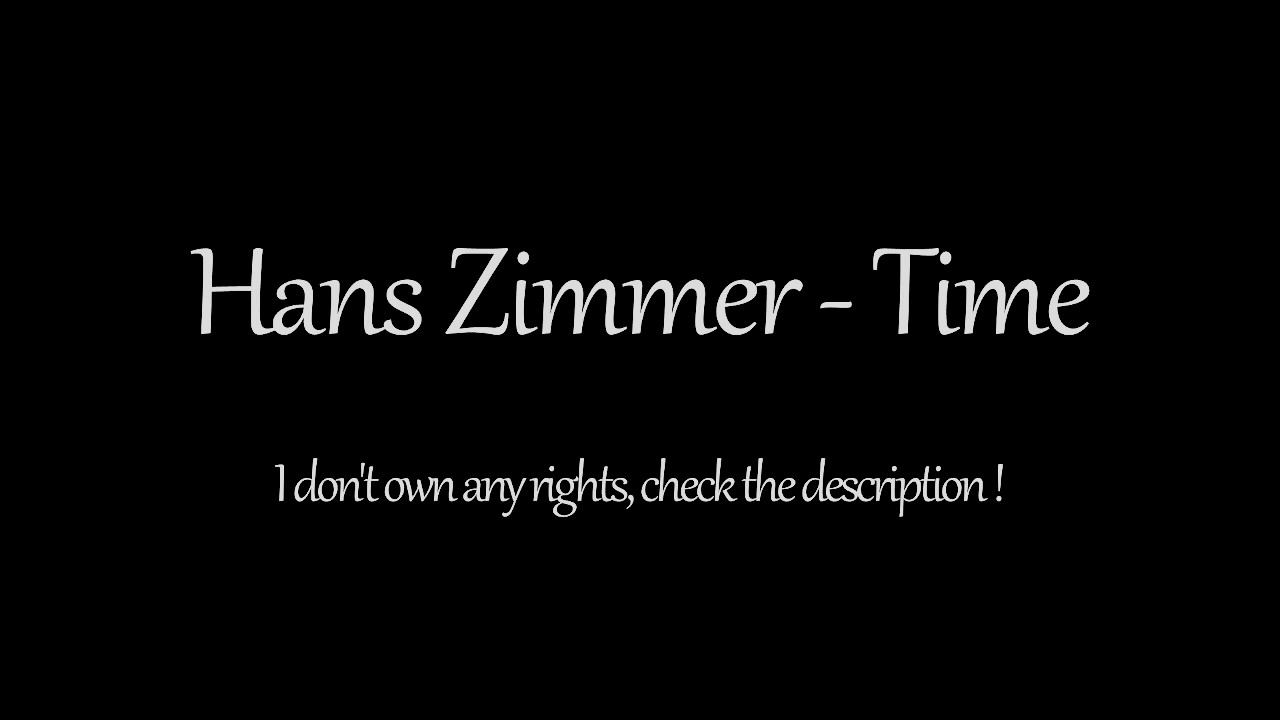 Hans zimmer time 1 hour inception theme song youtube for Hans zimmer time