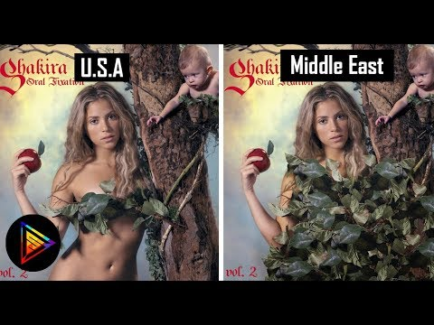 5 Album Covers BEFORE and AFTER Middle East CENSORSHIP