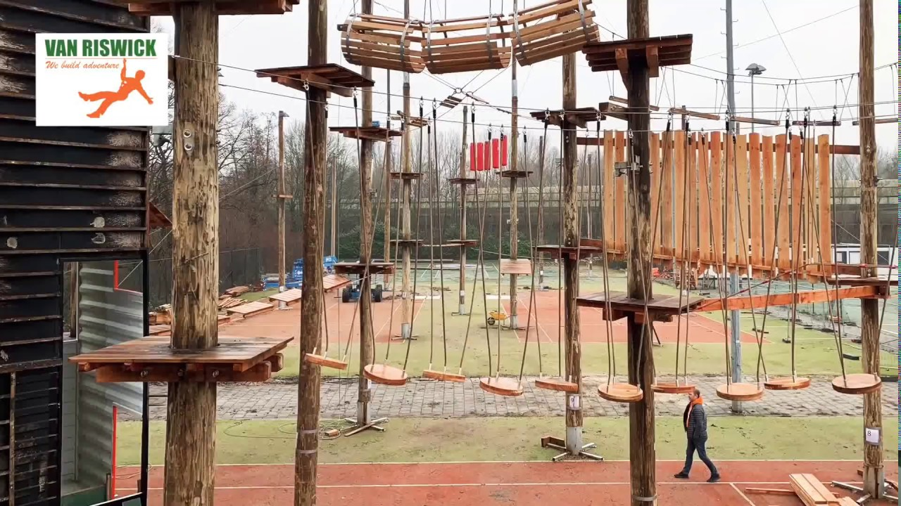 Construction Of The Outdoor Adventure Park For Adventure City Rotterdam Youtube
