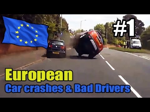 European driving captures - Car crashes #1