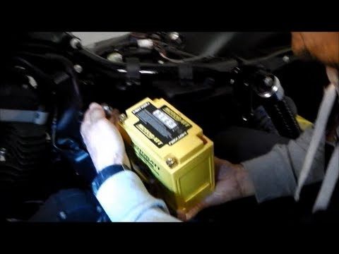 Delboy's Garage, Harley Sportster Battery Replacement .