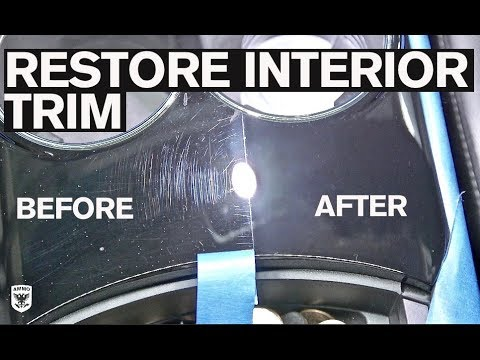 how to remove scratches from interior trim youtube. Black Bedroom Furniture Sets. Home Design Ideas