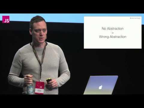 Sebastian Markbage: Minimal API Surface Area | JSConf EU 2014