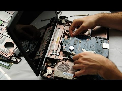 Toshiba Satellite C660 Laptop Disassembly video, take a part, how to open