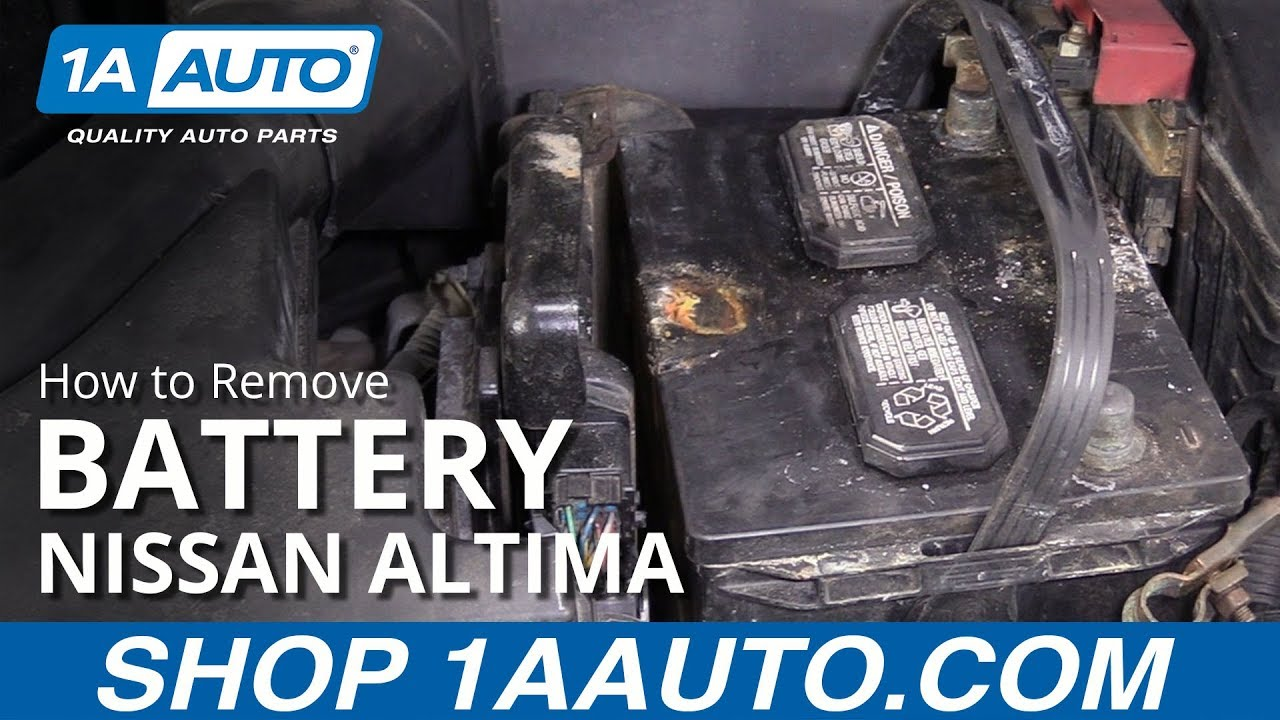 How To Remove Battery 06 11 Nissan Altima Youtube