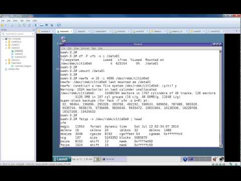 Creating UFS File System In Solaris 10