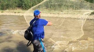 Рыбалка кастинговой сетью под тюрьмой !!!