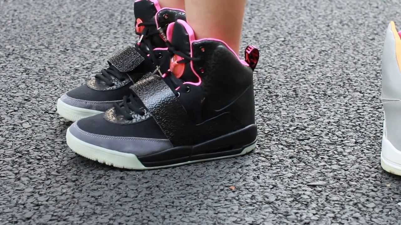 the best attitude c8c3f e3890 Nike Air Yeezy 1 Black   Pink   Blinks REVIEW and ON FEET HD - YouTube