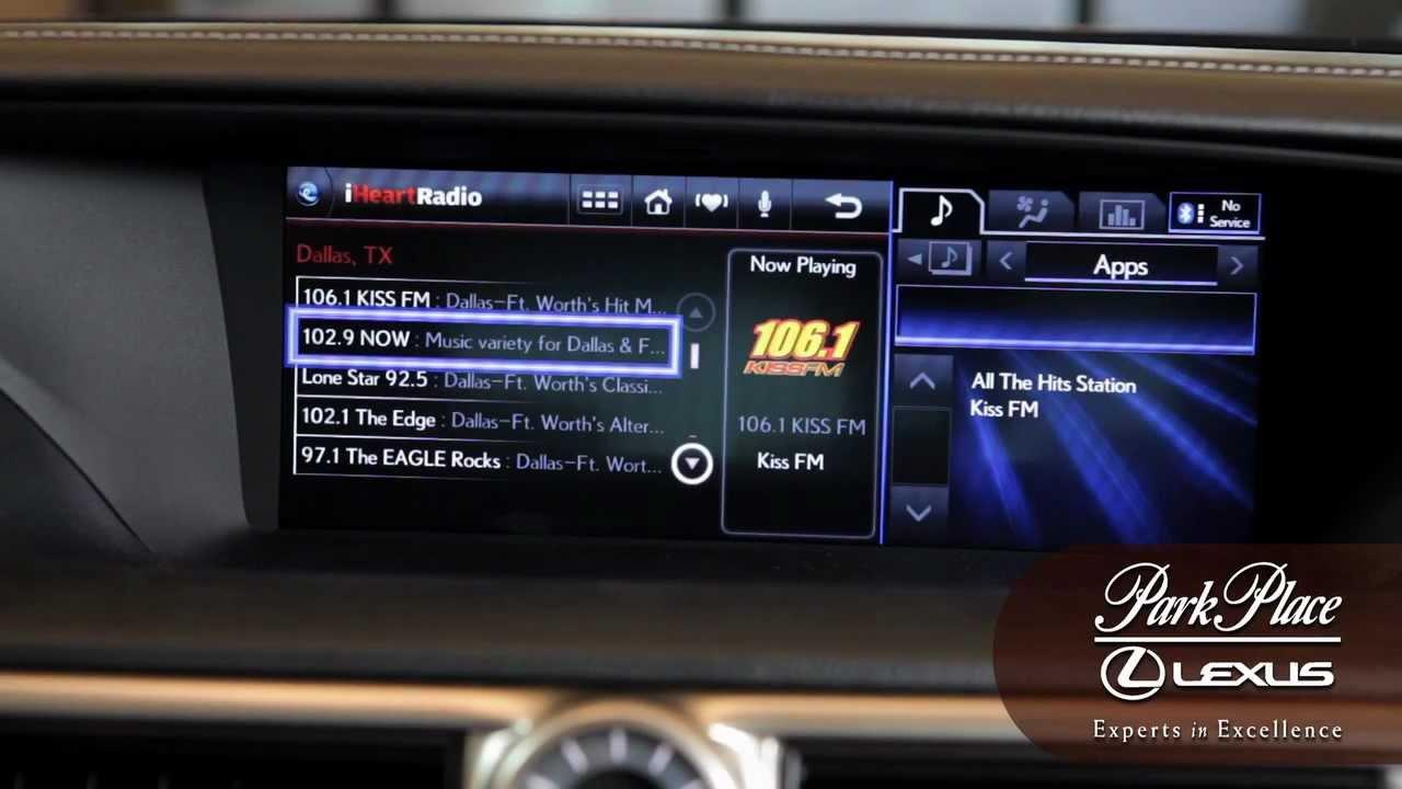 Lexus Enform How-To: iHeart Radio App
