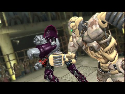 REAL STEEL THE VIDEO GAME - SCORPIO Vs BLACKJACK (XBOX360/PS3)