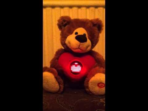 Valentine singing bear