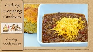 Dutch Oven Texas Style Pedernales Chili And Cornbread | Cooking Outdoors | Gary House