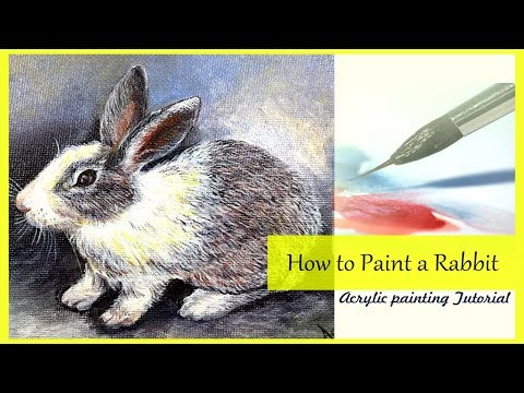 How To Paint A Rabbit | Step By Step Painting Tutorial | Acrylic Painting Demo