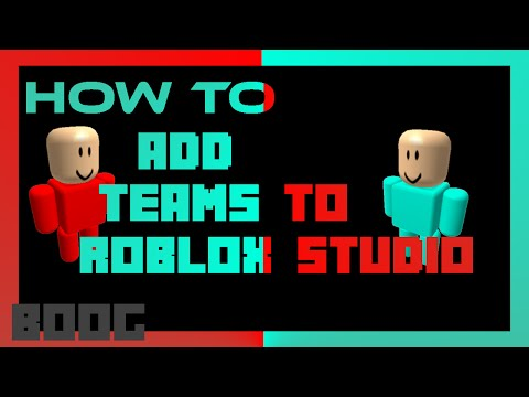 roblox how to make teams