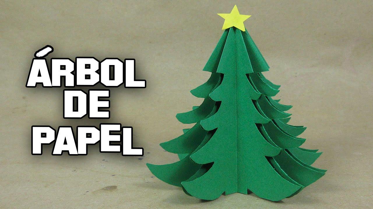 Como hacer un rbol de navidad de papel paso a paso how to - Como hacer un arbol de navidad de carton ...