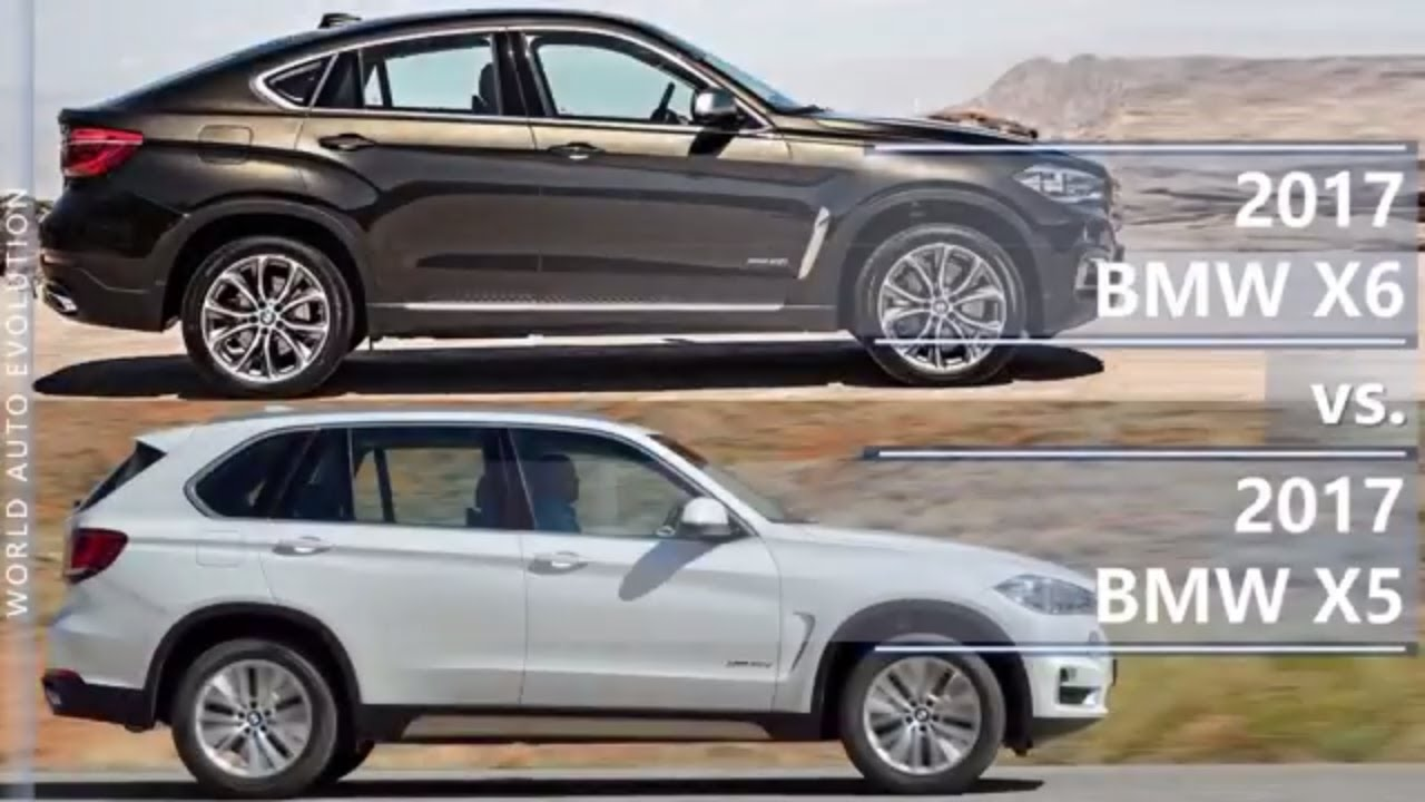 2017 Bmw X6 Vs 2017 Bmw X5 Technical Comparison Youtube