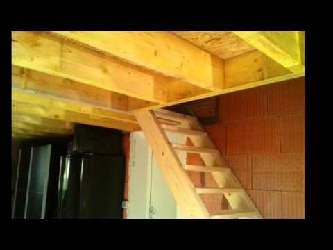 Cr ation d 39 un tage dans un garage youtube - Faire un plafond dans un garage ...