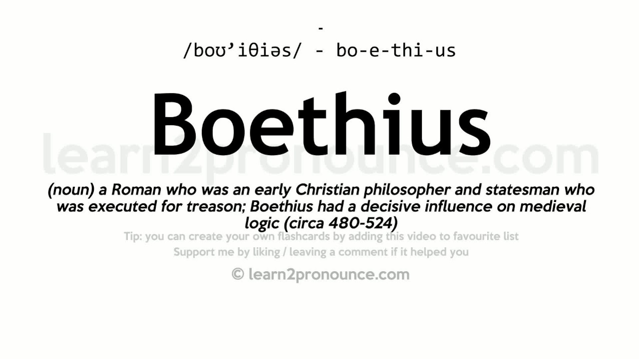 Good Boethius Pronunciation And Definition