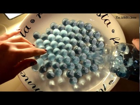 ASMR Water Marbles Play . Soft-Spoken Ramble . Fizzy Sounds