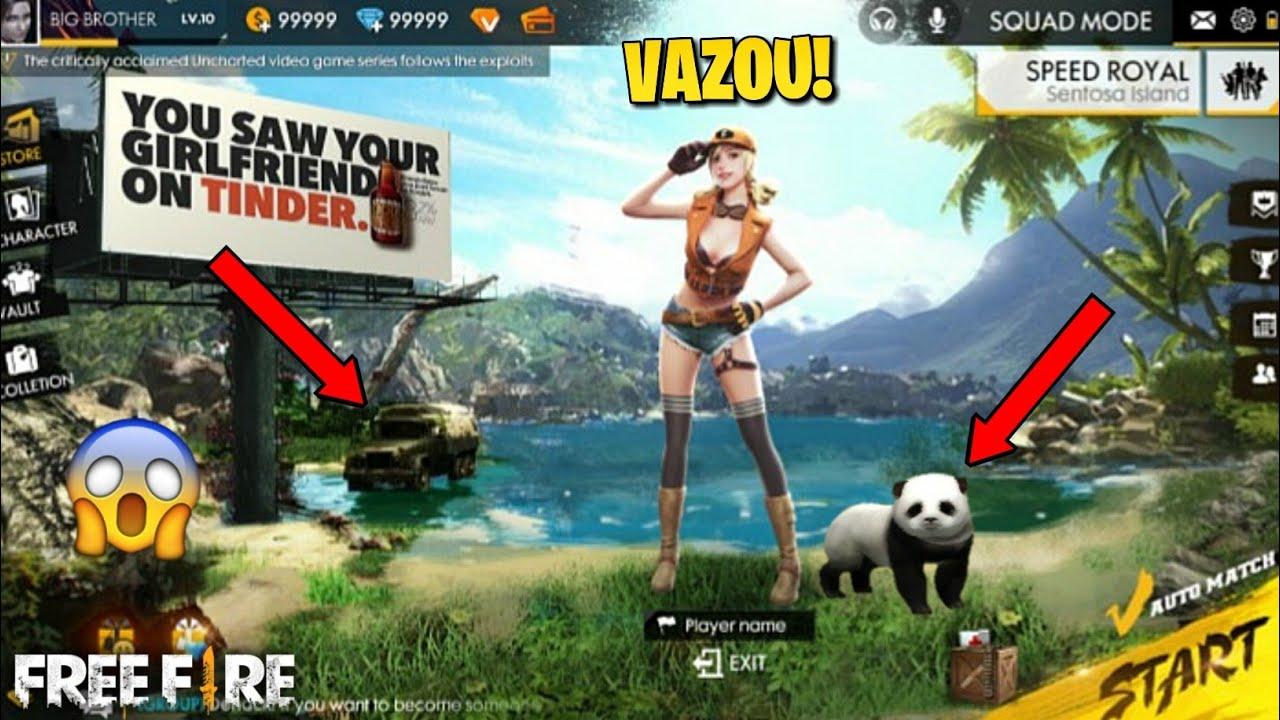 VAZOU TUDO!!! NOVO PET PANDA, NOVO LOBBY, NOVA INTERFACE E NOVO PERFIL NO FREE FIRE!