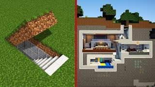 Minecraft: How To Build A Modern Secret Base Tutorial - (Hidden House) thumbnail