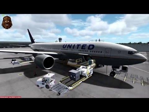 [P3D v3.2] Washington Dulles (KIAD) - San Francisco (KSFO) Full Flight | UAL340 PMDG 777-200LR