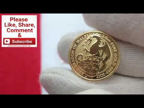 Queens Beast Red Dragon of Wales Gold Coin. CSS 100 Days of Silver Stacking Day #70