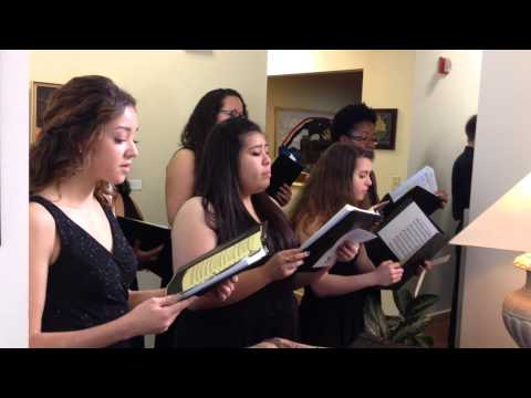 John Marshall High School Choir singing in San Antonio