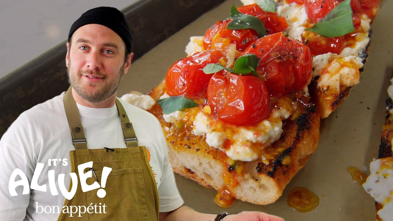 Brad Makes Charred Tomato Toast   It's Alive   Bon Appétit