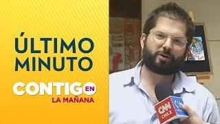 Diputado Boric y protestas en Chile: