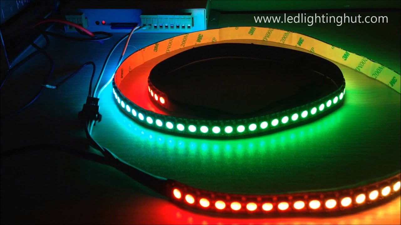 144 led m neopixel ws2812b digital intelligent rgb led strip light youtube. Black Bedroom Furniture Sets. Home Design Ideas