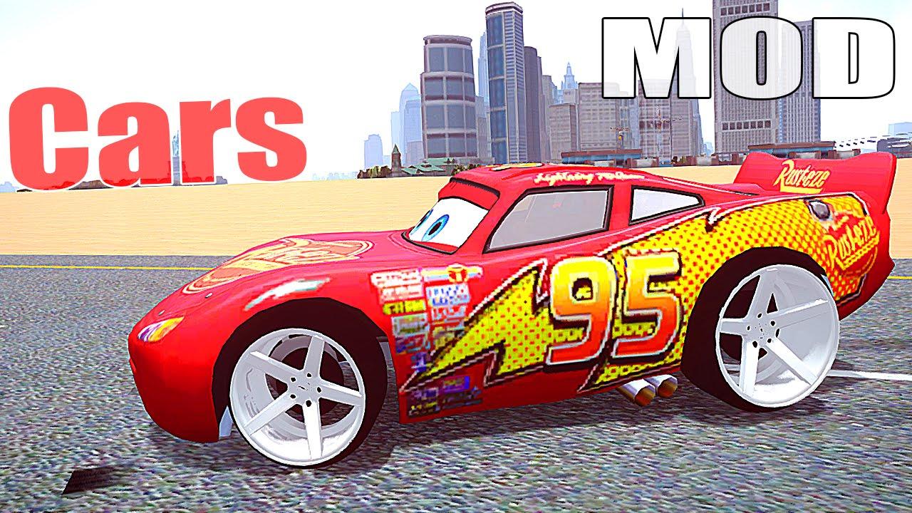 lightning mcqueen  gta 5 cars mods  youtube
