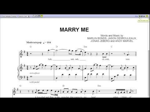 9.2 MB) Marry Me Sheet Music - Free Download MP3