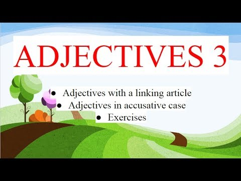 Albanian for beginners (accusative case of adjectives - part 1)