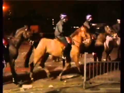 Riots Wapping Thames News 1987