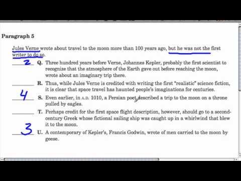SHSAT - Scrambled Paragraph 5 (#5) - YouTube