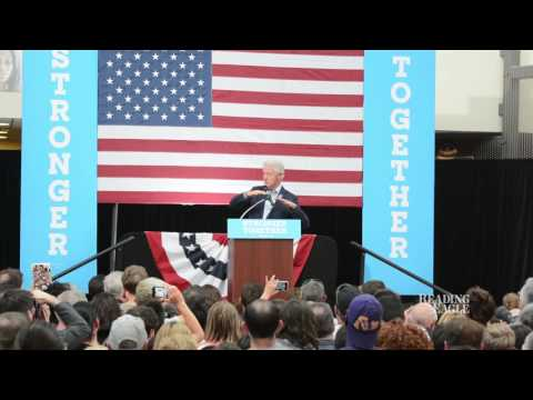 Bill Clinton at Montgomery Community College