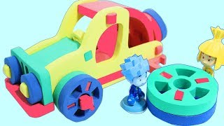 Fixiki help to make 3D Puzzle Car. Video for kids