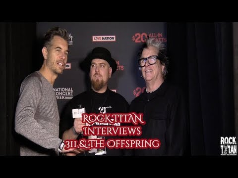 311 with The Offspring Interview featuring Nick Hexum and Noodles!