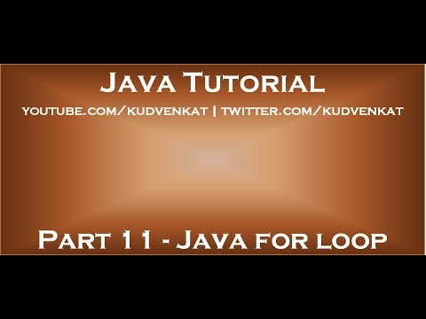 Java for loop - YouTube