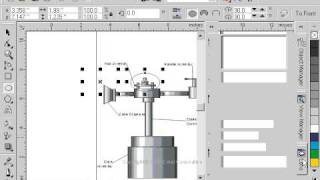 CorelDraw 9 for PC Scenario -magnification lens object - technical drawing