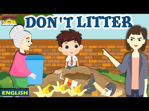 Don't Litter | Moral Stories For Kids | English Story For Kids | English Moral Stories Ted And Zoe