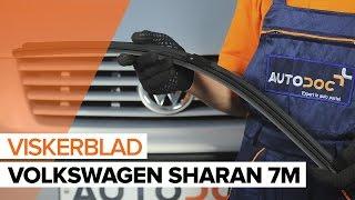 Montering Vindusviskere bak og foran VW SHARAN (7M8, 7M9, 7M6): gratis video