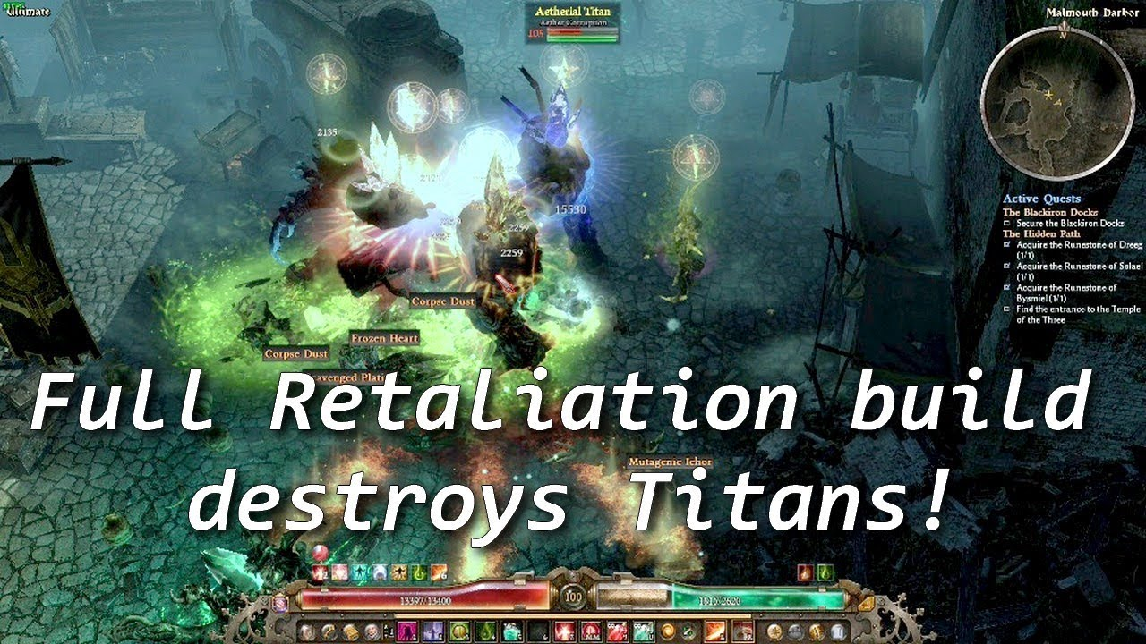 Grim Dawn Forgotten Gods| Sentinel Retaliation build in Blackiron docks