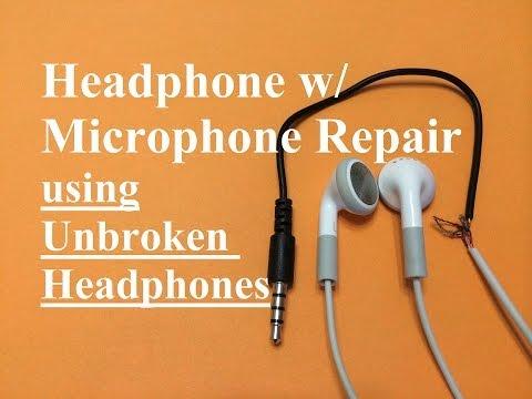 Headphone w/ Microphone Repair (Unbroken Headphone Set)