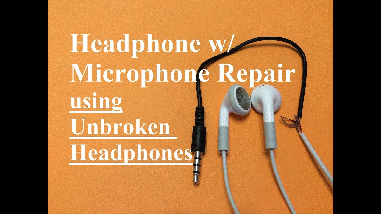 headphone w microphone repair unbroken headphone set  [ 1280 x 720 Pixel ]