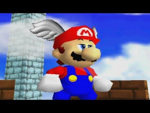 Super Mario 64 100% Walkthrough Part 2 - Mario's Wing Cap