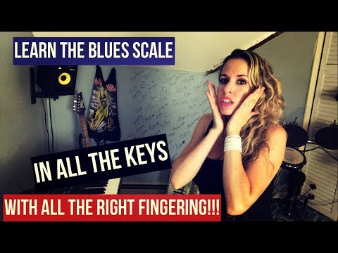 How to play Blues Scale on Piano all Keys with fingering